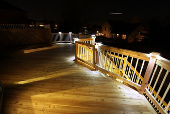 atopdeck350upleft vertimage350right & Outdoor Deck and Railing Lighting - Aurora Deck Illumination