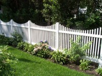 (Photo 22) 2-Rail Scalloped Picket Fence