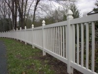 (Photo 2) 2-Rail Picketed Fence With Gothic Cap