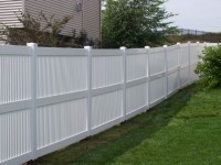 (Photo 10) 3-Rail Semi Privacy Picket Fence