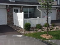 (Photo 3) 3-Rail Semi Privacy Alternating Picket Fence With 2-Rail Transition