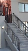 "(Photo 31) Custom Stair Rail 42"" Custom Color With Pipe Rail"